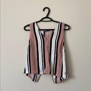 DYNAMITE stripe blouse